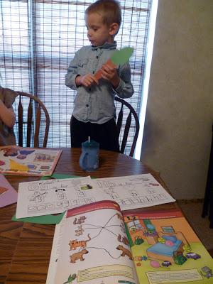 Homeschooling fun today – my funny kids :)