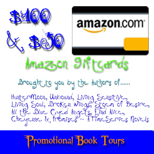 #WIN Amazon Giftcards! Promotional Book Tour Event