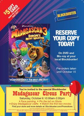 Madagascar 3 Party THIS Saturday!
