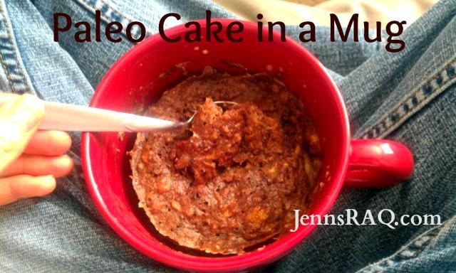 easy paleo treat cake in a mug