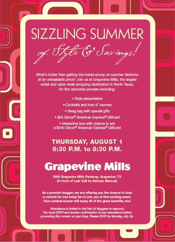 Grapevine Fashion Event