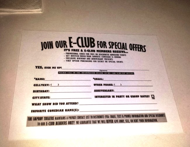 Addison Improv E-Club