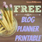 Blog Planner Printable #FREE #blogging