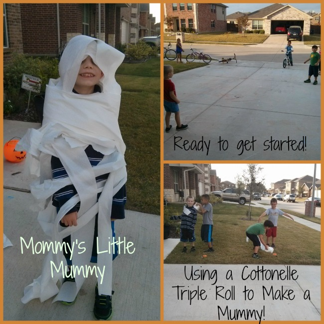 Halloween Relay Race with Cottonelle