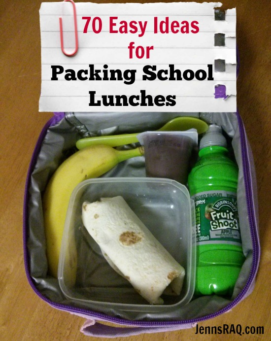 How to pack the perfect lunch for kids 70 Easy Ideas for Packing School Lunches