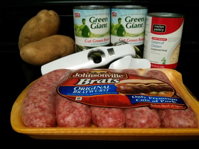 Brats, Greens, and Potatoes One Pot Dish Recipe Ingredients