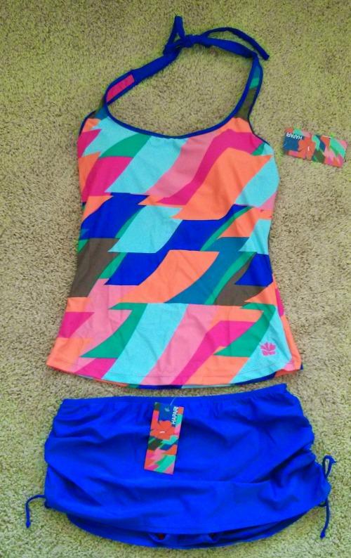 Hapari Swimwear Maternity Tankini and Swim Skirt with Bottoms