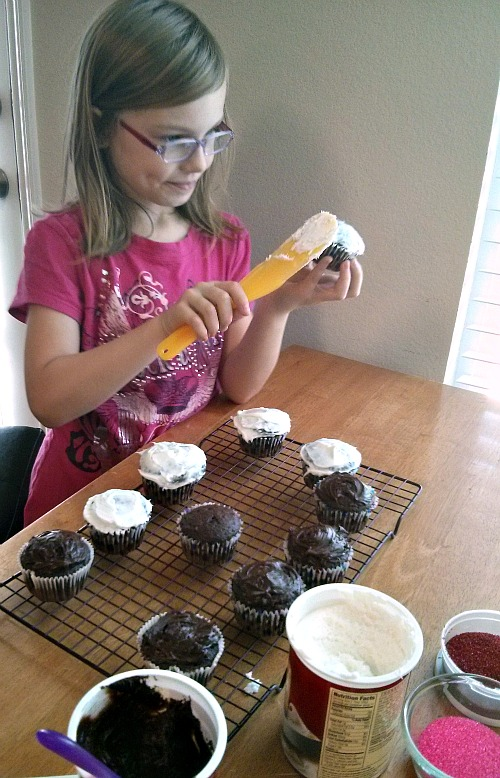 Sweet Celebration Cupcakes with Peeps Minis Frosting the Tops