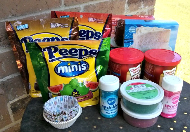 Sweet Celebration Cupcakes with Peeps Minis Ingredients