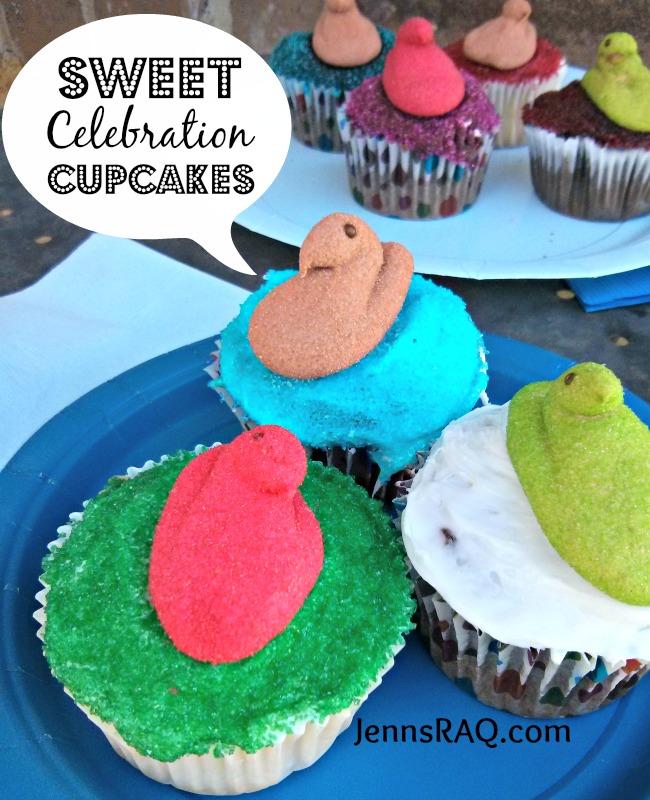 Sweet Celebration Cupcakes with Peeps Minis