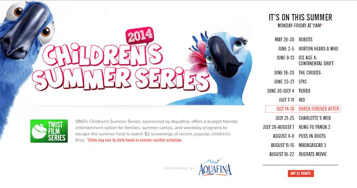 studio movie grill childrens summer series 2014