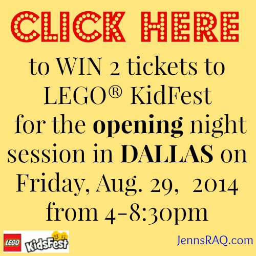 click here to win Lego KidFest tickets Dallas