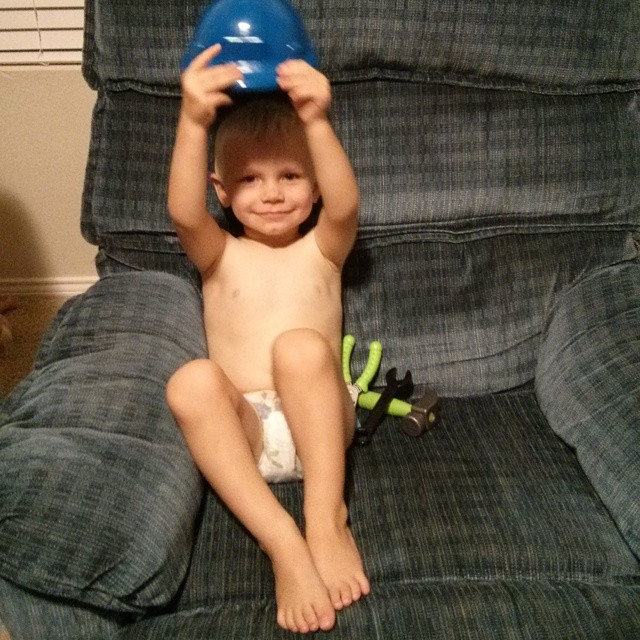28 month old potty training like a champ