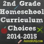 2nd Grade Homeschool Curriculum Choices 2014-2015