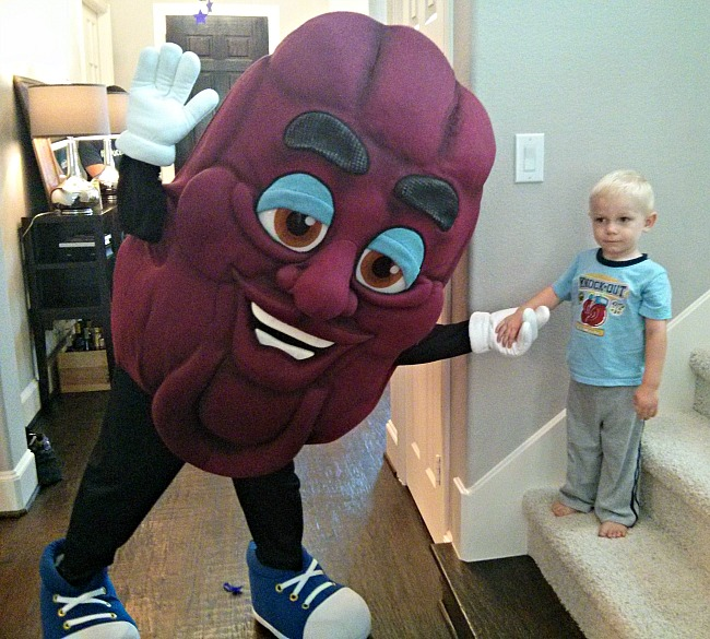 Dancing with the California Raisin