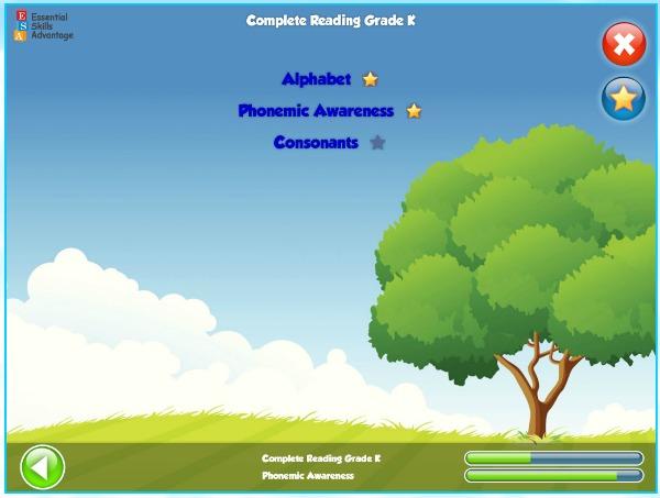 essential skills advantage complete reading phonics menu