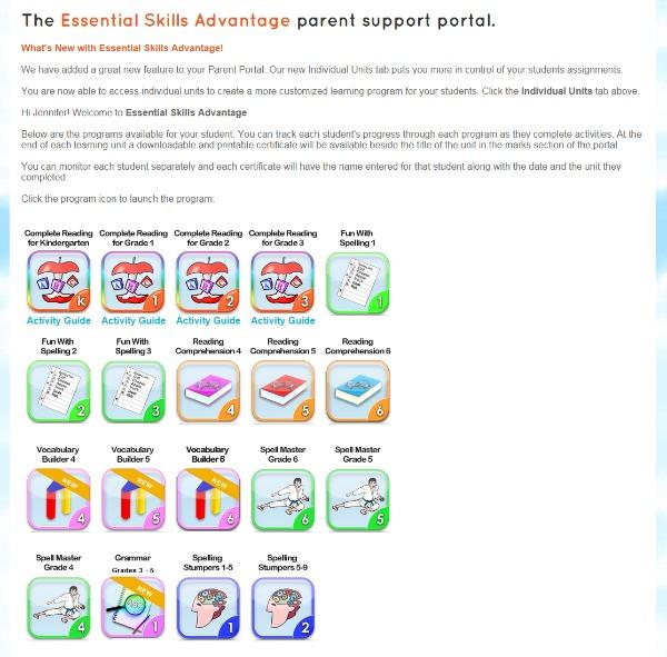 essential skills advantage learning programs
