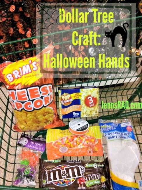 Dollar Tree Craft Halloween Hands