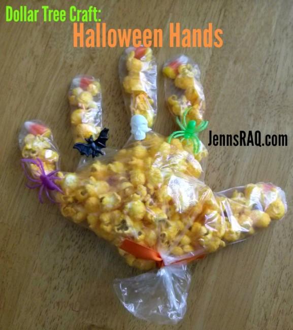 Dollar Tree Craft Halloween Hands Final