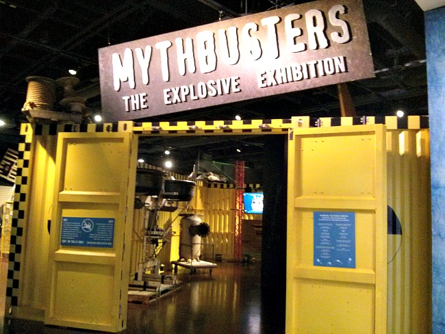 MythBusters: The Explosive Exhibition entrance Fort Worth