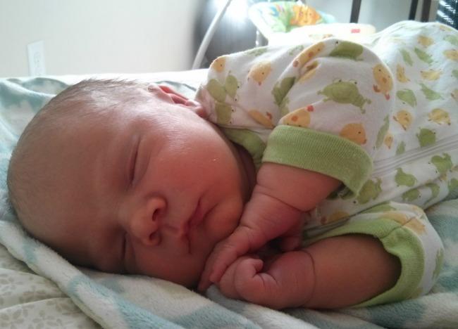 11 pound vbac baby sleeping