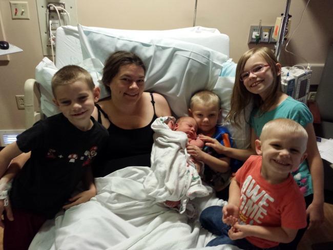 Baby Ethan meets his siblings