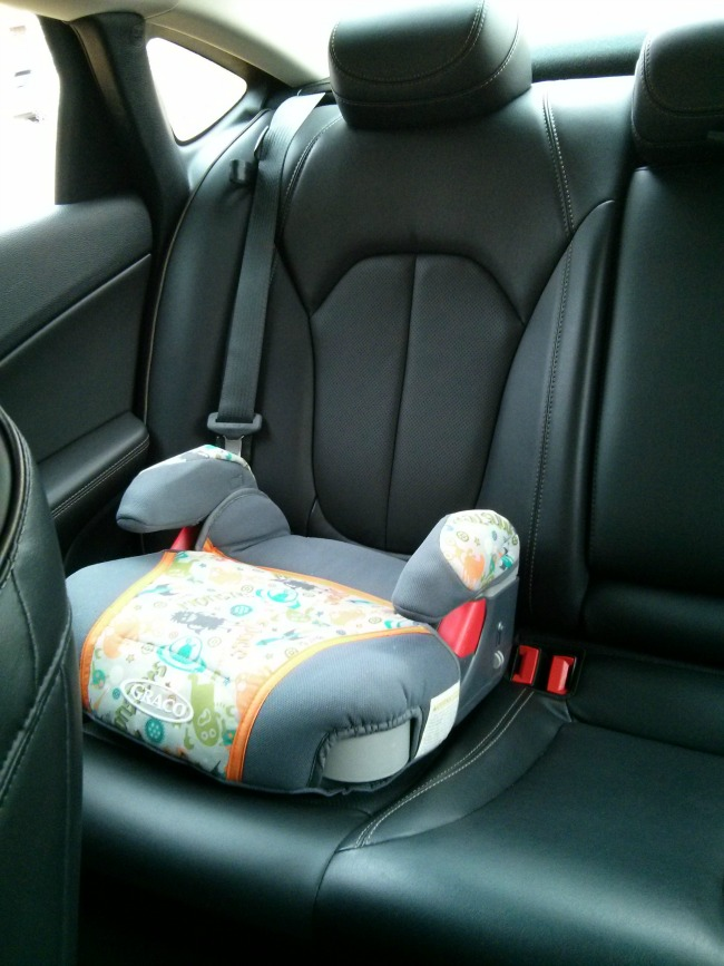 Booster in the backseat of the 2015 Chrysler 200C #DriveChrysler200