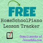 My Homeschool Piano Discovery (plus FREE printable)