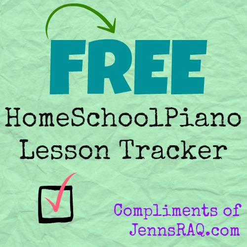 homeschoolpiano lesson tracker