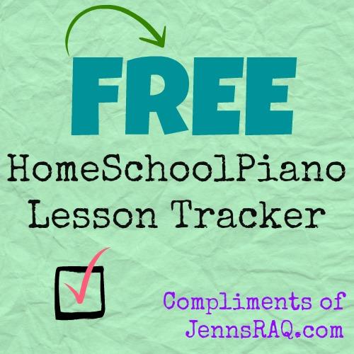 homeschoolpiano lesson tracker
