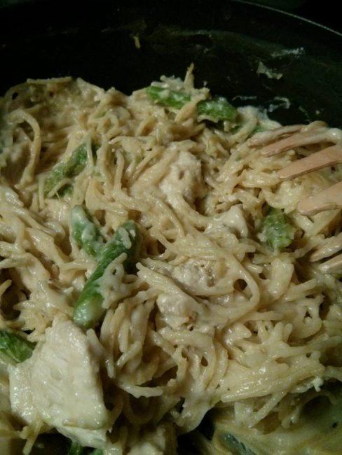 One Dish Saucy Chicken Noodles