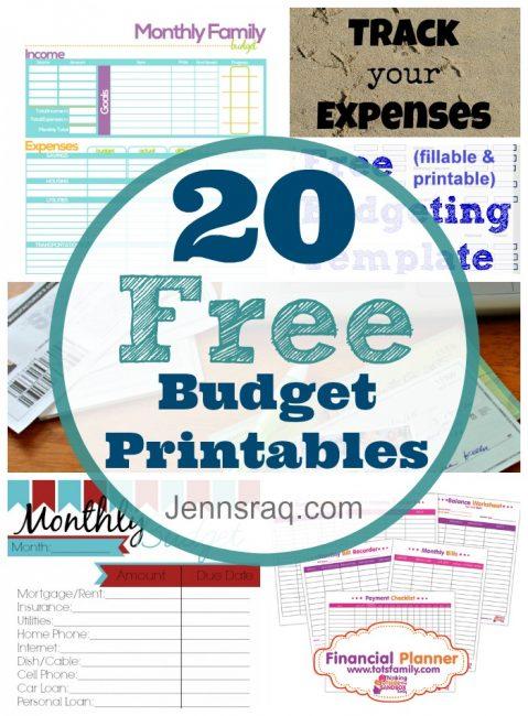 20 Free Budget Printables - Jennsraq.com