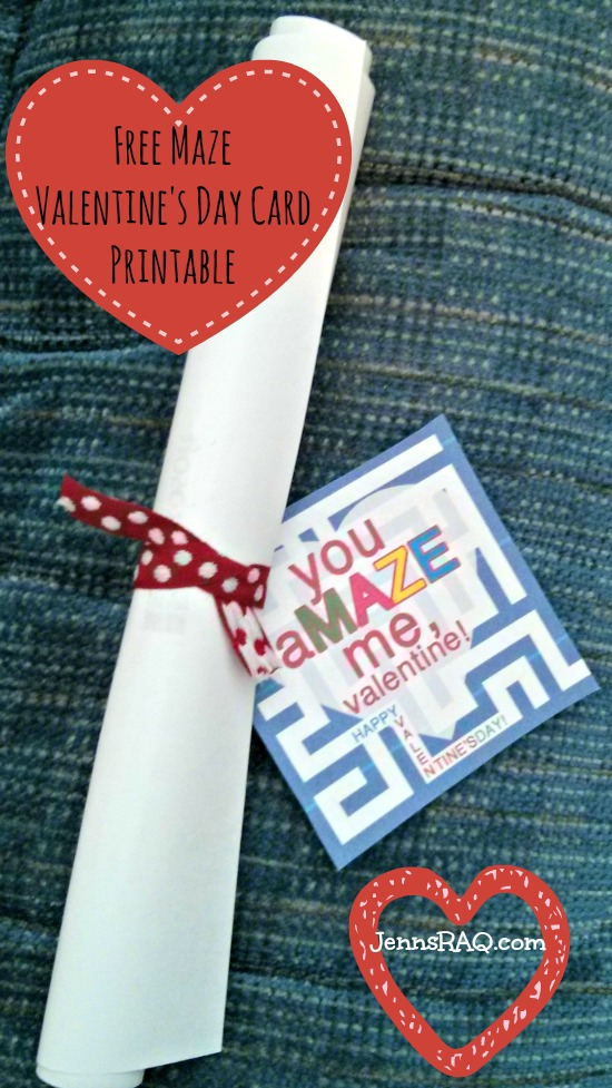 Free Maze Valentines Day Card Printable