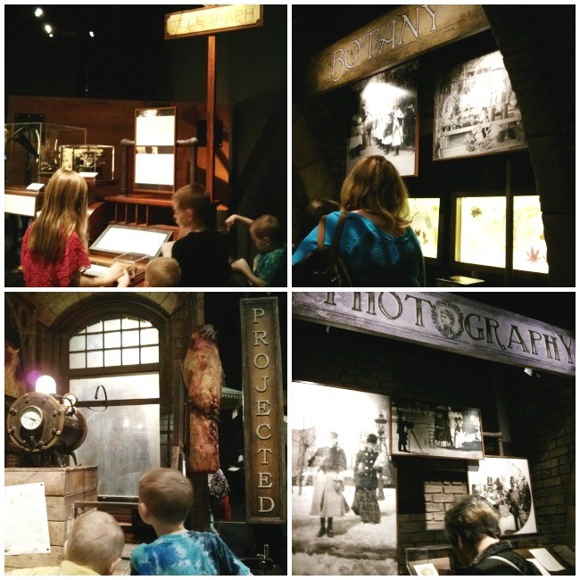Sherlock Holmes Exhibition Perot Museum Detective Work at Various Stations