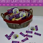 Quick & Easy GRAPE Valentine for Kids Printable