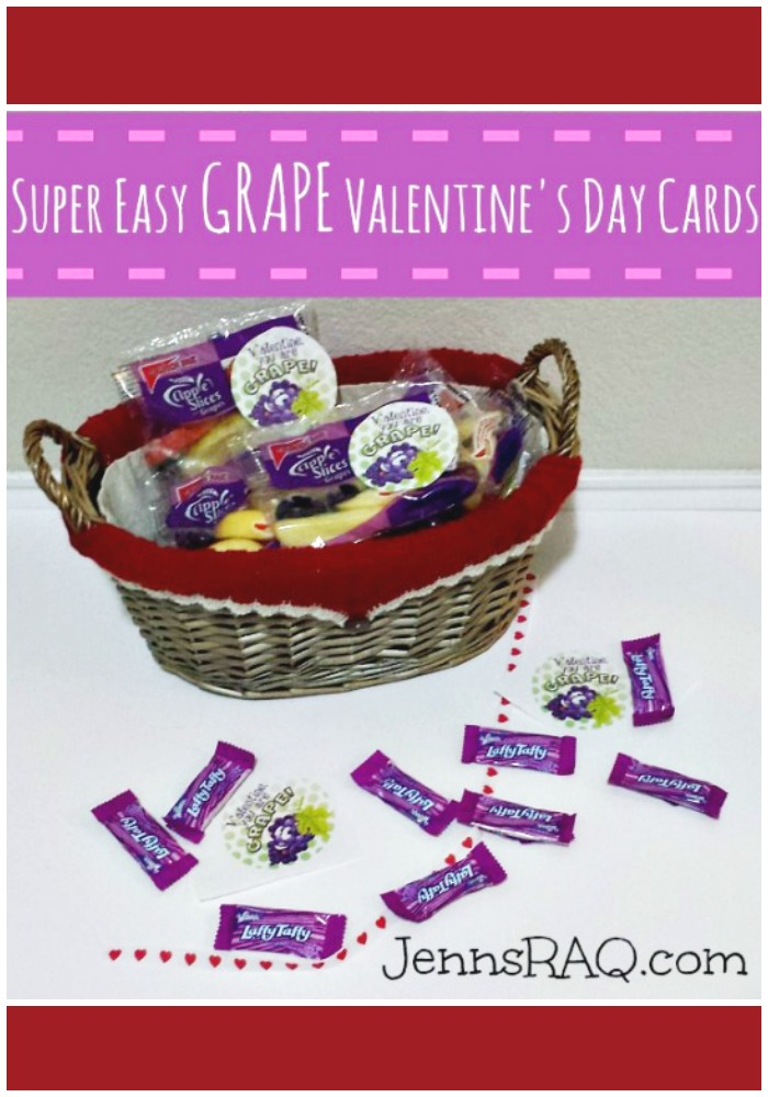Super Easy GRAPE Valentines Day Cards from JennsRAQ.com