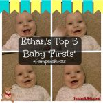 "Ethan's Top 5 Baby ""Firsts"" (and how to share yours!) #PampersFirsts"