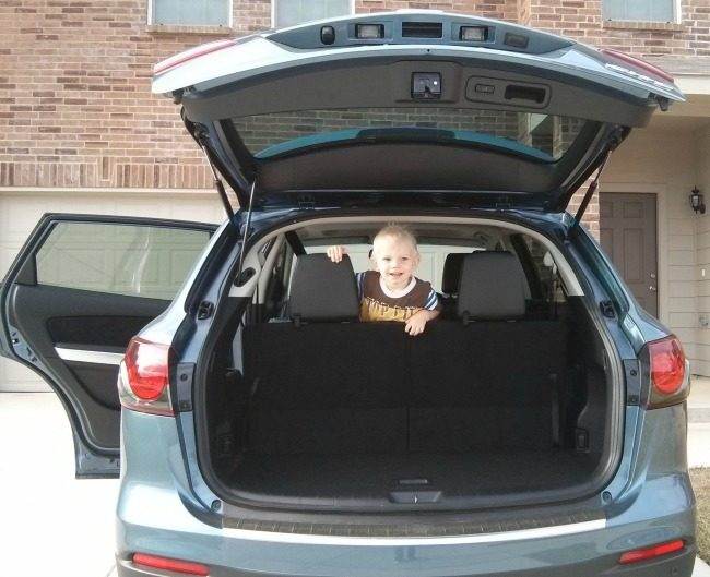 2014 Mazda CX-9 Grand Touring FWD Trunk Space with Third Row Seats in Use