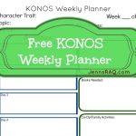 KONOS Curriculum Information (Plus a FREE Weekly Planner Printable)
