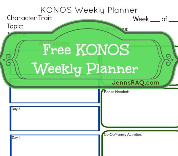 KONOS Curriculum Information (Plus a FREE Weekly Planner Printable)
