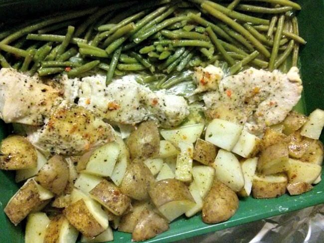Italian Chicken Bake with Green Beans and Potatoes