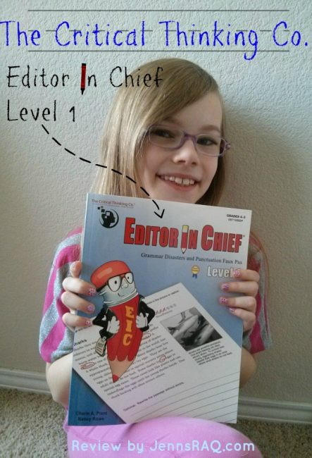 The Critical Thinking Company Editor in Chief Level 1 Review on JennsRAQ.com