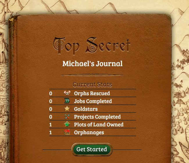 orphs of the woodlands michaels journal