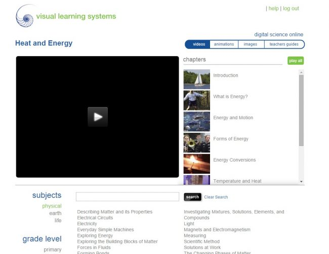 visual learning systems elementary heat and energy online science curriculum for homeschool students K-5 or 6-12