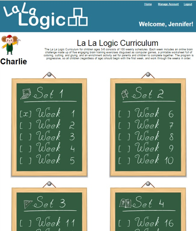 La La Logic Preschool Curriculum Sets by Week