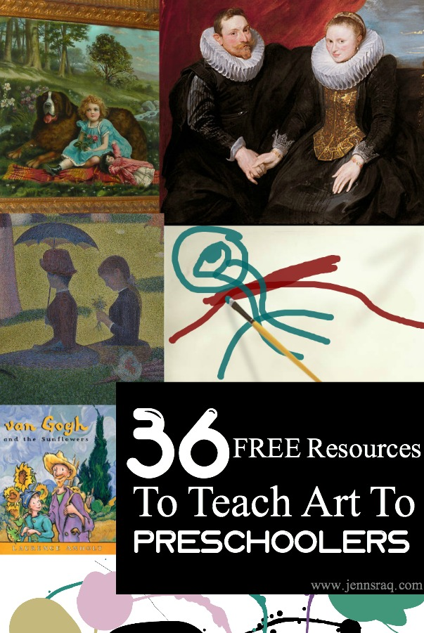 36 Free Resources to Teach Art to Preschoolers from JennsRAQ.com