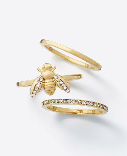 Ann Taylor Bumble Bee Ring Set