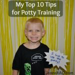 My Top 10 Tips for Potty Training #PampersEasyUps