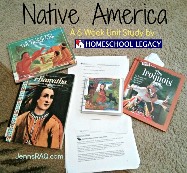 Native America - A 6 Week Once A Week Unit Study by Homeschool Legacy