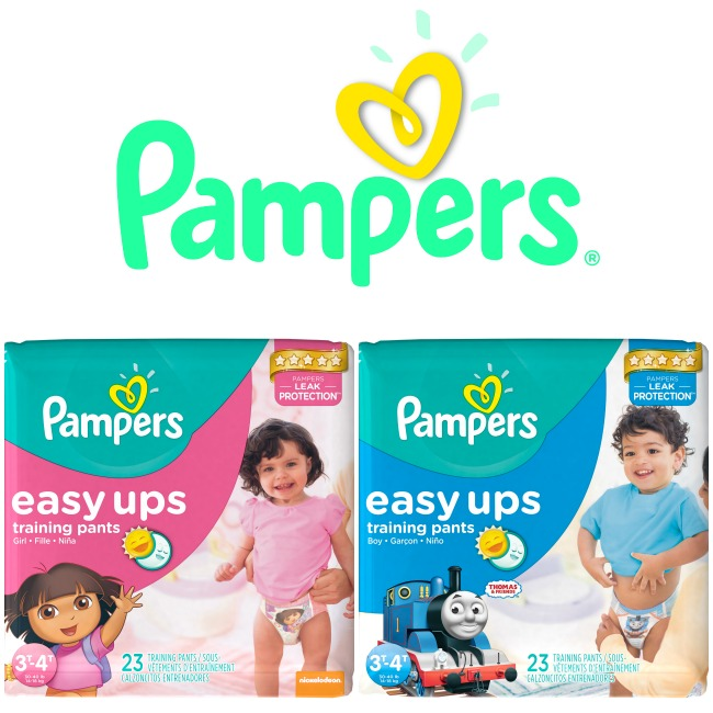 Pampers Easy Ups make potty training more fun and less messy